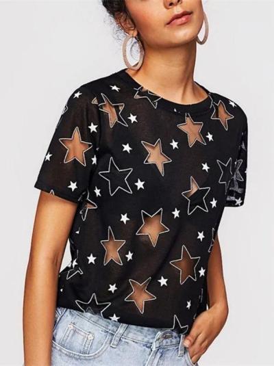 Short Sleeve Crew Neck Shirts & Tops