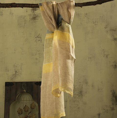 100% Spring and Autumn Linen Plaid Men/Women Scarves Woman Summer Scarf Pashmina Shawls Wraps Head Scarf