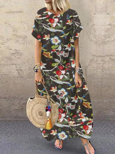 Multicolor Casual Cotton-Blend Dresses