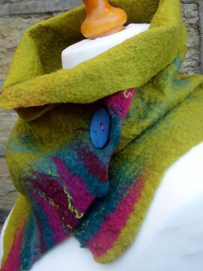 Green Vintage Plain Scarves & Shawls