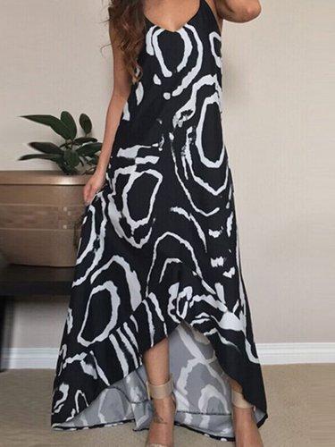 Women Holiday Printed Plus Size Maxi Dress