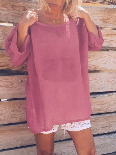 Round Neck Sweet Shirts & Tops