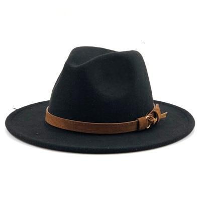 Wide Brim Wool Felt Hat Formal Party Jazz Fedora Hat