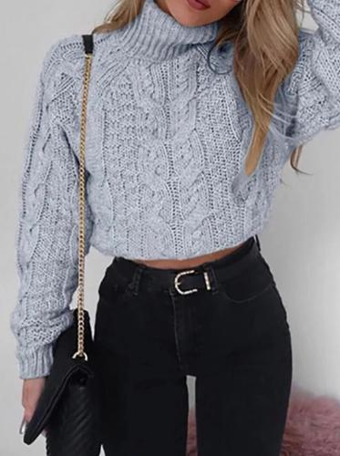 Fashion Long Sleeve Turtleneck Sweater