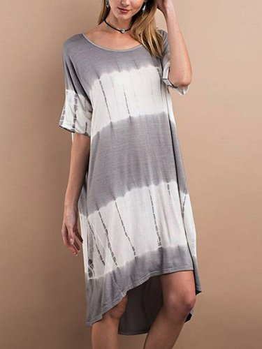 Short Sleeve Casual Plain Dresses