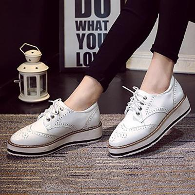 Women PU Loafers Casual Comfort Oxford Shoes