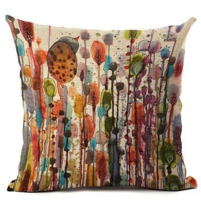 Oil Painting Birds Cushion Cover Decorative Sofa Throw Pillow Case