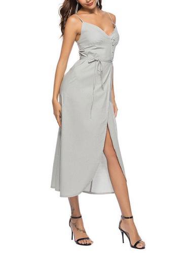 Sexy Slit Spaghetti Strap Dress