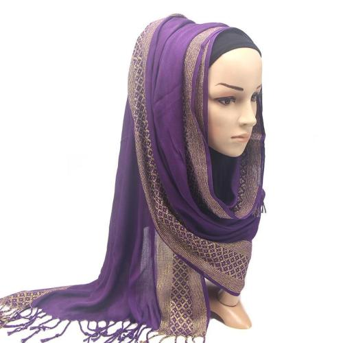 Tassels Hijabs Shawls Good Quality Scarves Muslim Turban  Scarf Winter