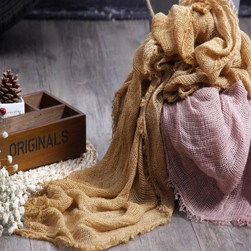 200*90 cm High Quality Linen Scarf Fabric Soft