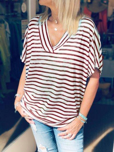 Casual Cotton-Blend Plain Shirts & Tops