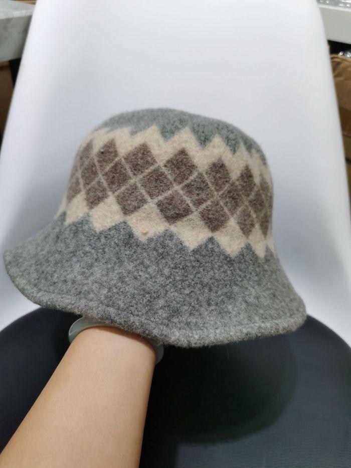 Wool Hat Female Autumn and Winter Korean Version of Retro Literary Fisherman Hat To Keep Warm.