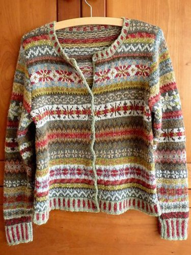 Buttoned Boho Long Sleeve Tribal Cardigan