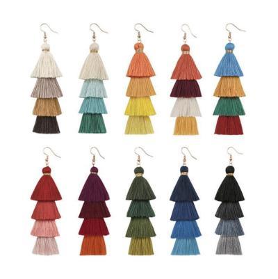 Handmade Colorful Tasseled Bohemia Earrings