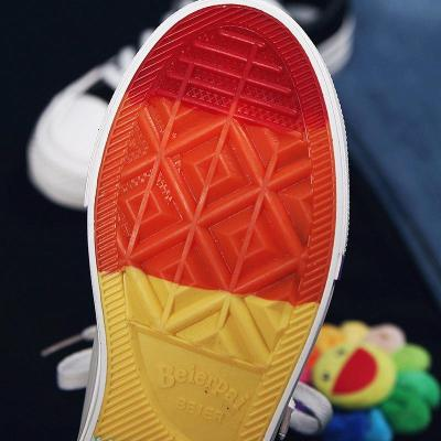 Korean Style Lightning Mixed Color Canvas Shoes Sneakers