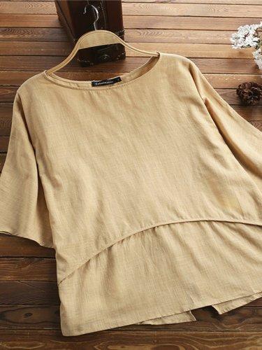 Round Neck Short Sleeve Shirts & Tops