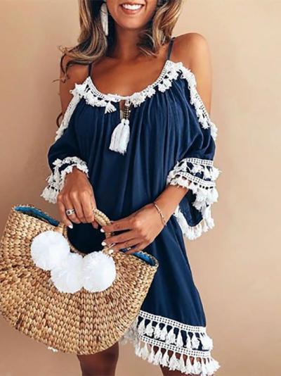 Elegant Polyester Midi Dress