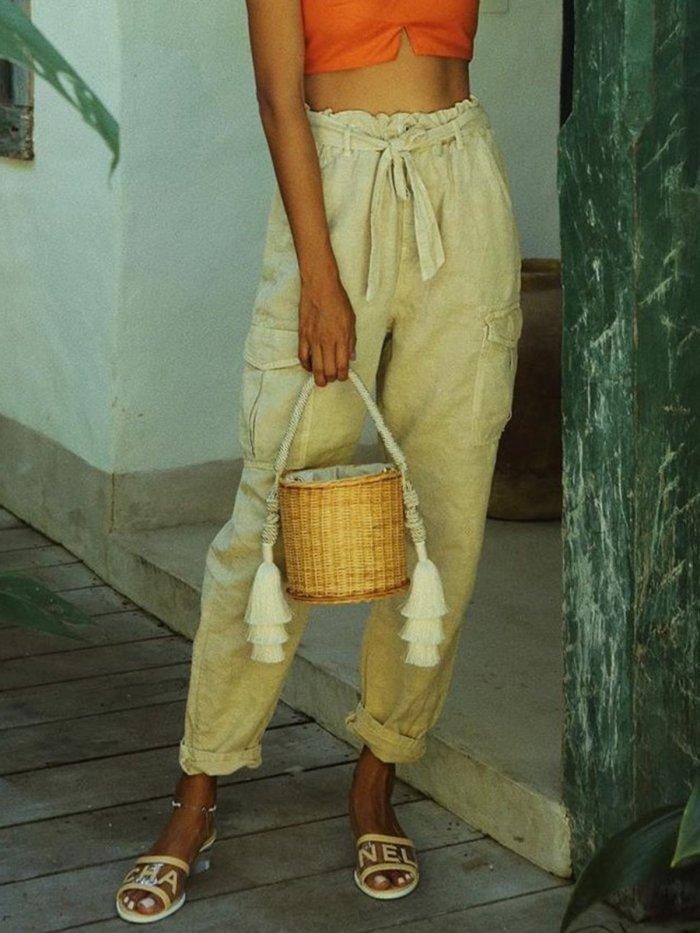 Cotton Vintage Casual Plus size pants