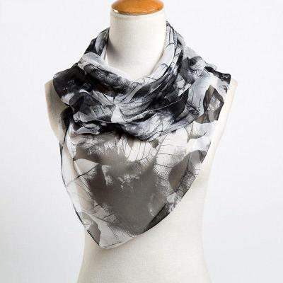 Hot Style Women Scarf High Quality Artificial Silk Print Flower Competitive Price Fashion Long Shawls 50*160CM