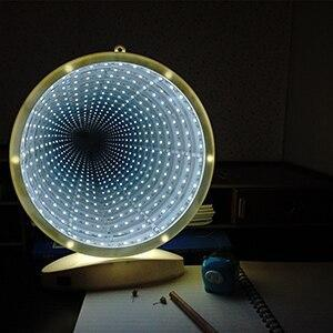 Thrisdar LED3D Battery USB Dual Mirror Tunnel Night Light