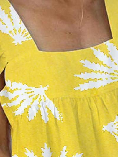 Sweet plus size printed dress