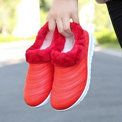 Women Slip-on Winter Booties Faux Fur Casual Loafers Shoes