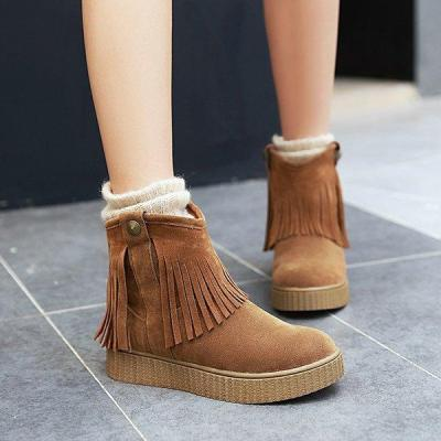 Tassel Daily Low Heel Artificial Leather Ankle Boots