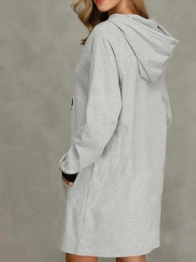 Shift Graffiti Vintage Hoodies Dresses