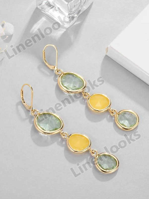 Water Drop Long Earrings for Women Girls Alloy Female Dangle Hanging Earring