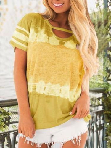Plain Casual V Neck Shirts & Tops