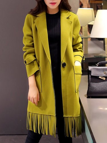 Fringed Shift Work Solid Coat