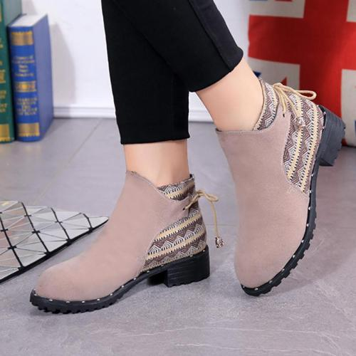 Women Spring/Fall Casual Lace-up Boots
