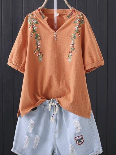 Short Sleeve V Neck Shirts & Tops
