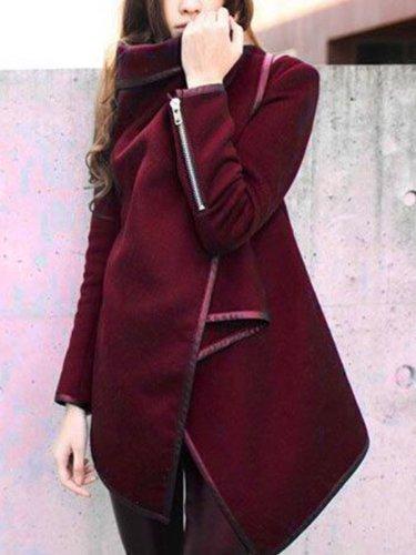 Elegant Fashion Slim Solid Color Long Sleeve Cardigan
