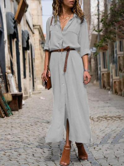 Women's Work Summer Dress Linen Clothing