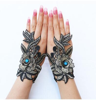Embroidery gloves Chinese ethnic glove Flower gloves Women