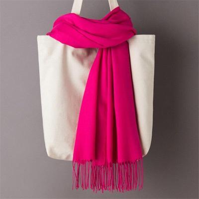 Women Plain Shawls And Wraps Solid Female Hijab Stole Pashmina Cashmere Foulard