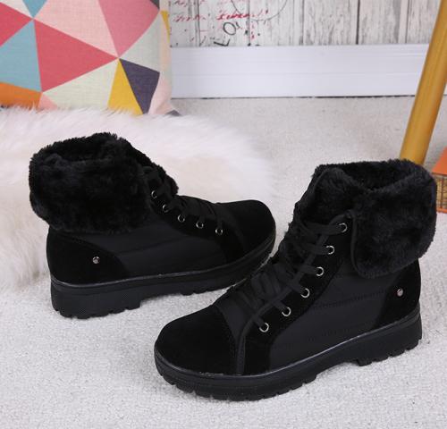 Women's Boots Low Heel Black Casual Boots