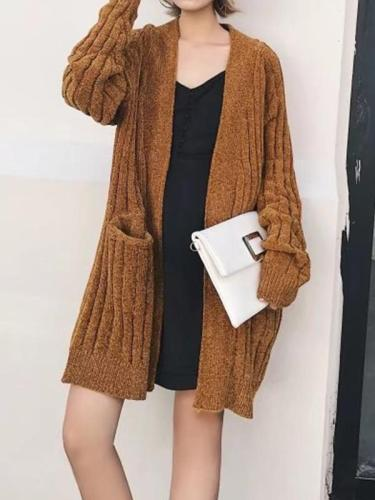 Chenille Medium Long Cardigan
