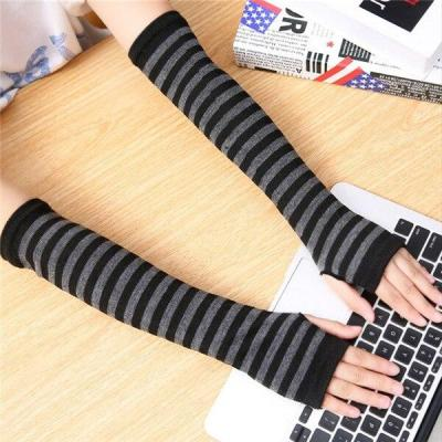 Autumn and winter long Knitted Warm elbow Protection Office Mittens