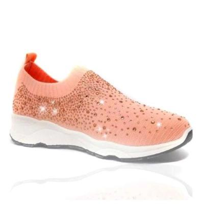 Women's European And American Fashion Rhinestone Stretch Cloth Solid Color Casual Shoes