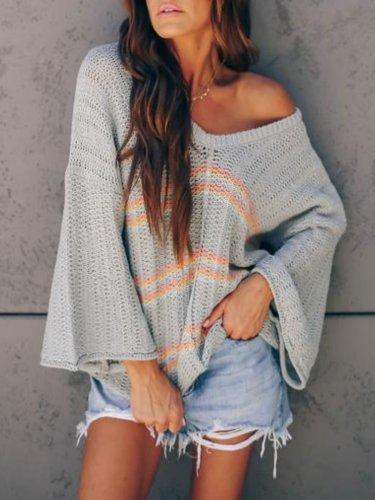 Grey Casual Printed Shirts & Tops