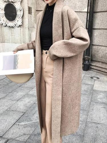 Oversized Cashmere Long Jacket Batwing Sleeve Knitted Cardigans