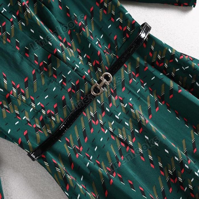 Women's Spring 2020 New Stylish Plaid Long Dresses