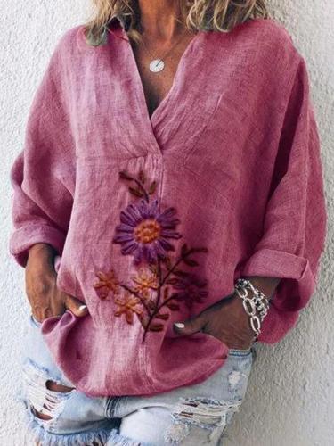 Casual Long Sleeve Printed Shirts & Tops