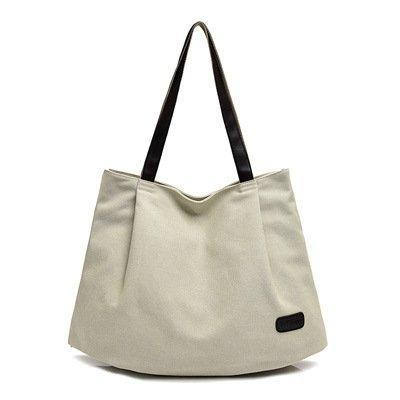Fashion Ladies Canvas Shoulder Bag Large Capacity Female Handbag Casual Handbag