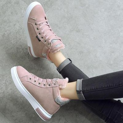 Women Athletic Lace Up Sneakers Boots Casual Shoes