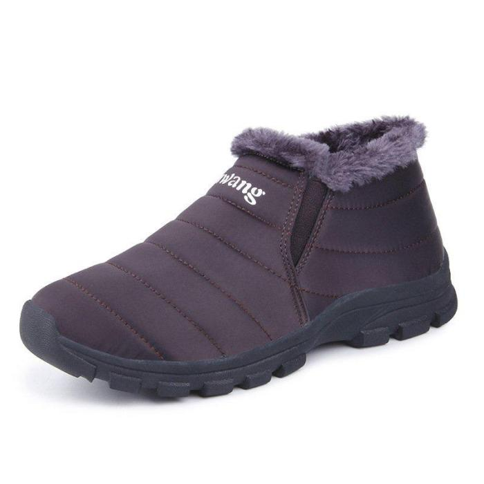 Waterproof Cloth Fur Lining Boots
