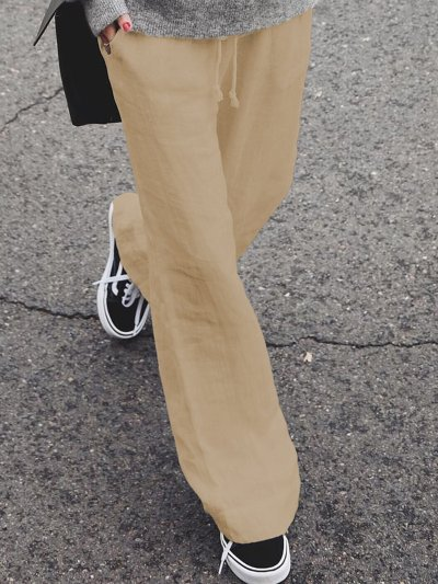Casual Solid Pants