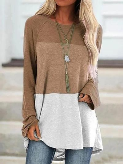 Color-Block Long Sleeve Shirts